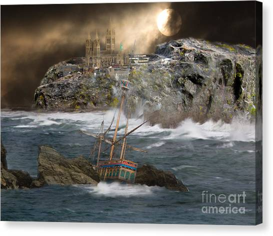 Cornish Wreckers Canvas Print