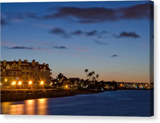 Canvas Print featuring the photograph Coronado Sunset by Margaret Pitcher