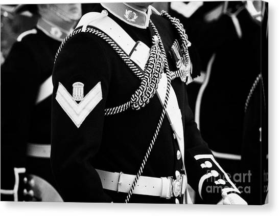 Royal Marines Canvas Print - corporal and bugler of the band of HM Royal Marines Scotland at Armed Forces Day 2010 by Joe Fox