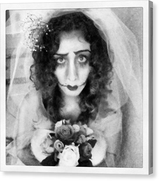 Snowboarding Canvas Print - Corpse Bride by Dani Pimenta