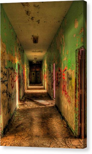 Corridor Of Shadows Canvas Print by Heather  Boyd
