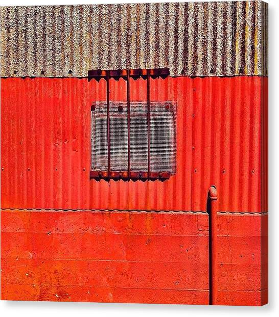 Red Canvas Print - Corrugated by Julie Gebhardt