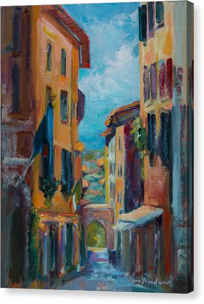 Canvas Print - Cortona - Early Morning by Jane Woodward