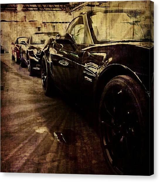 Sports Cars Canvas Print - Corvette by Josh Lang