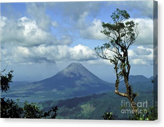 Costa Rican Canvas Print - Costa Ricas Arenal Volcano by Greg Dimijian