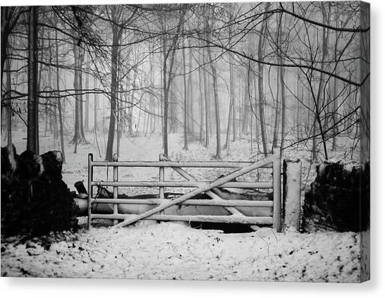 Gates Canvas Print - Cotswolds Winter by Andrew Lockie