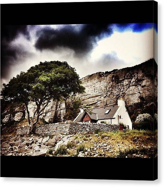 Geology Canvas Print - Cottage On The Beach, Elgol. #shore by Robert Campbell