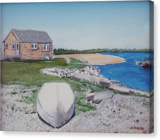 Cottage On The Marsh Canvas Print by Anthony Ross