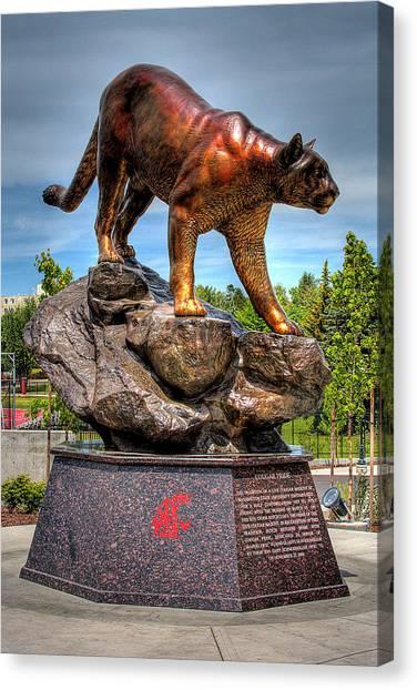 Washington State University Canvas Print - Cougar Pride II by David Patterson