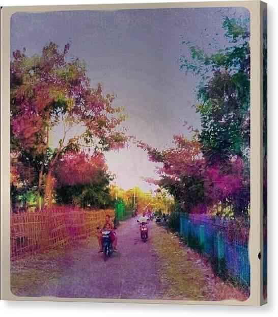 Pathway Canvas Print - Country Road by Vika Klaretha Dyahsasanti