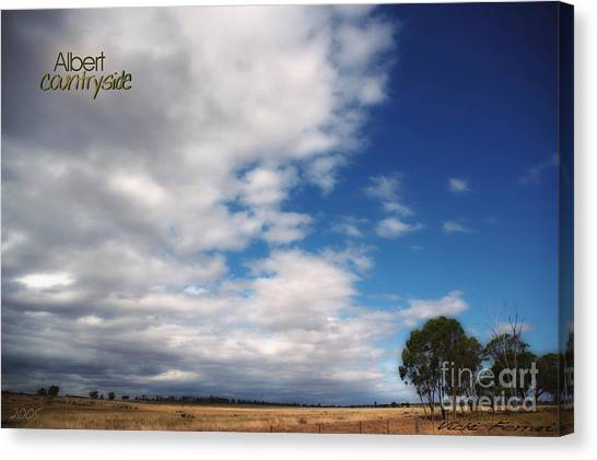 Canvas Print featuring the photograph Country Sky by Vicki Ferrari