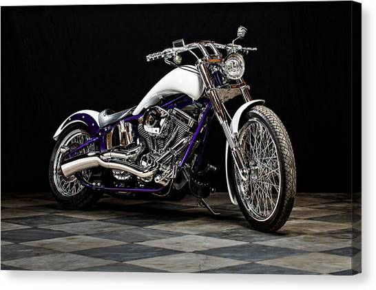 Choppers Canvas Print - County Line Chopper by Everet Regal