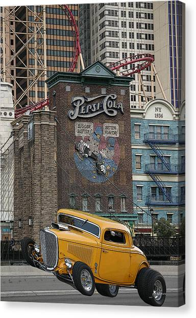 Coupe On Strip In Vegas Canvas Print