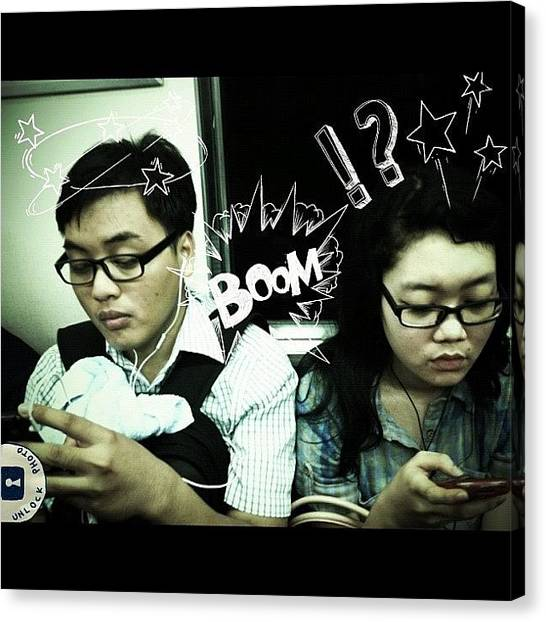 Humans Canvas Print - Couple #actoftheday #instaiphone by Nugroho Wahyu