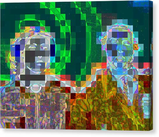 Pixelated Canvas Print - Couple by Randall Weidner