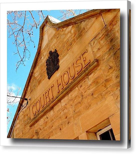 Farmers Canvas Print - Court House - Opposite Cafe On Louèe by Gary David