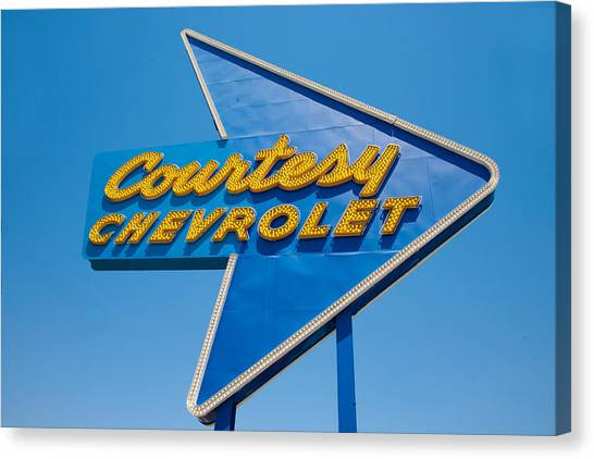 Retro Canvas Print - Courtesy Chevrolet by Matthew Bamberg