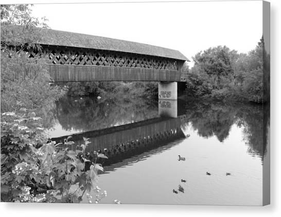 Covered Bridge Guelph Ontario Canvas Print