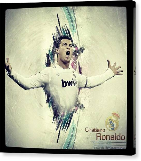Soccer Players Canvas Print - #cr7 #cristianoronaldo #realmadrid by Erick Barba