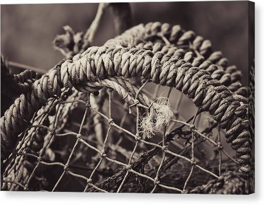 Crabbing Canvas Print - Crab Cage by Justin Albrecht