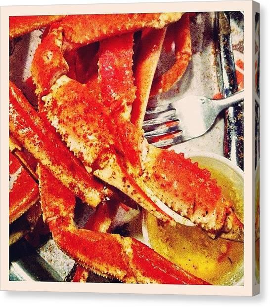 Seafood Canvas Print - Crab Legs - #foodporn #food by Liza Mae | Luxavision