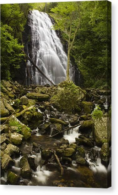 Blue Ridge Parkway Waterfalls Canvas Print - Crabtree Falls by Andrew Soundarajan