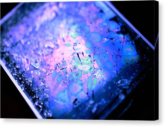 Cracked Cellphone Canvas Print by Will Czarnik
