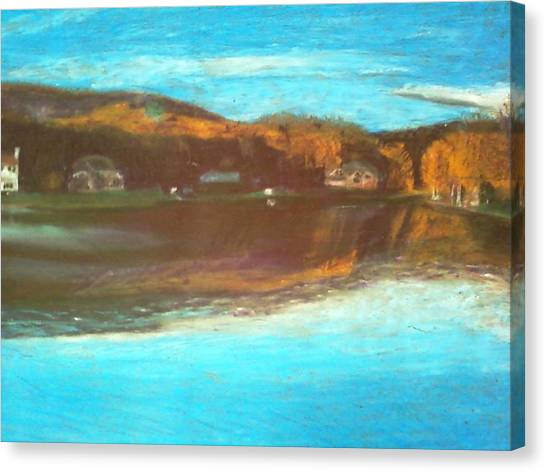 Crandon Lakes In November Canvas Print by Samuel McMullen