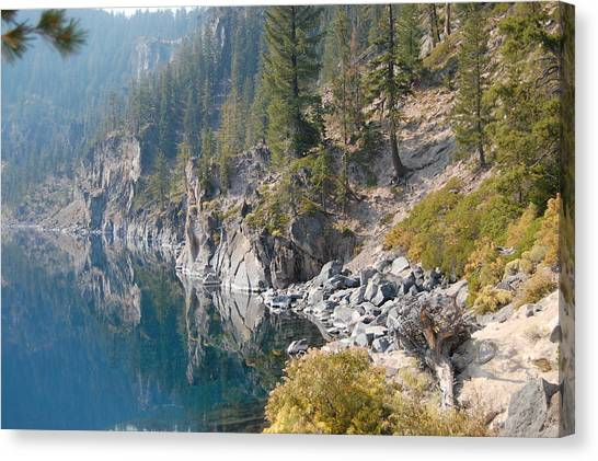 Canvas Print featuring the photograph Crater Lake Reflections by Margaret Pitcher