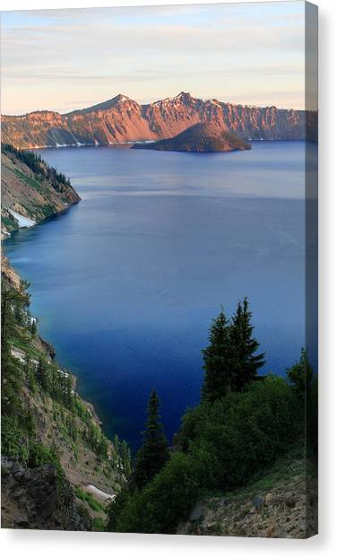 Crater Lake Sunrise Canvas Print by Pierre Leclerc Photography