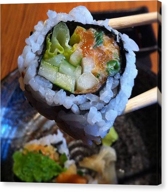 Meals Canvas Print - Craving For Some #sushi!! by Jorge InstaRevolution