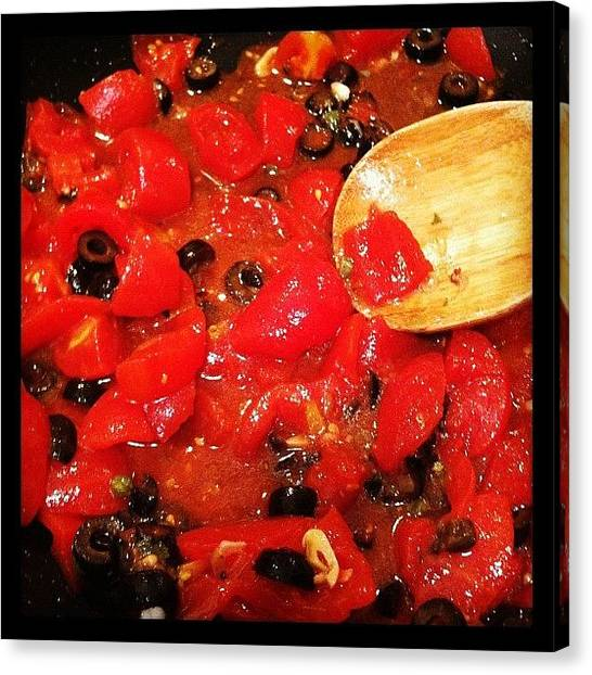Tomato Canvas Print - Cravings by Anna Avagliano