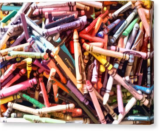 Crayola Canvas Print by Bernadette Kazmarski
