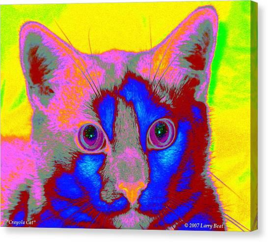 Crayola Cat Canvas Print