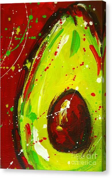 Crazy Avocado 3 - Modern Art Canvas Print