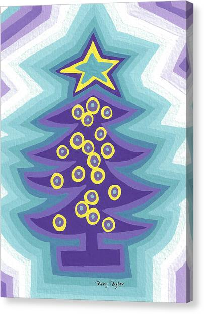 Crazy Christmas Tree Canvas Print