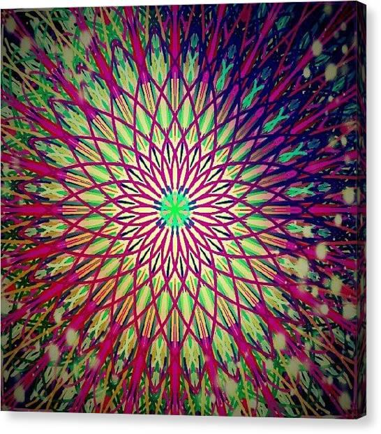 Spiritual Canvas Print - Crazy Days Mandala by Vicki Field