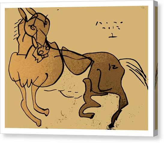 Crazy Horse Canvas Print by Peter Szabo
