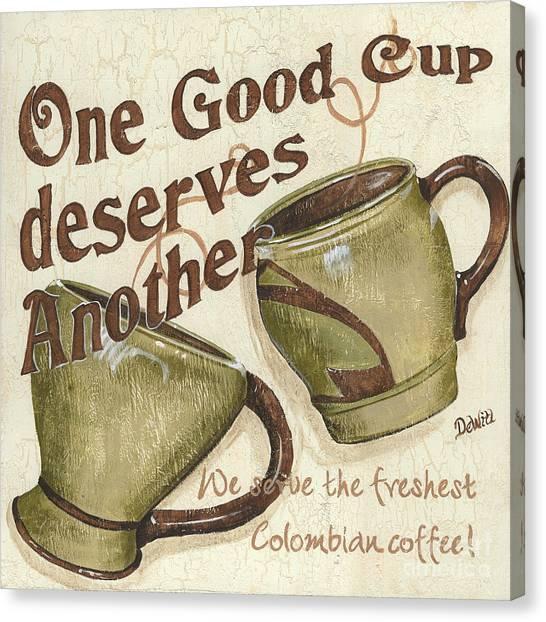 Colombian Canvas Print - Cream Coffee 2 by Debbie DeWitt