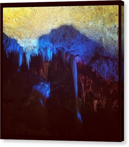 Stalagmites Canvas Print - Creepy by Shirley  Sutandhio