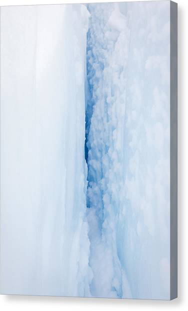 Fox Glacier Canvas Print - Crevasse, Fox Glacier, New Zealand by Jeffrey Conley