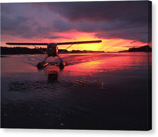 Crimson Skies Canvas Print by Mark Alan Perry
