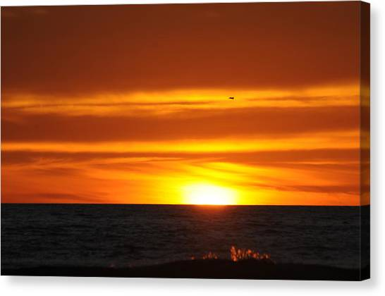 Crimson Sunset Canvas Print