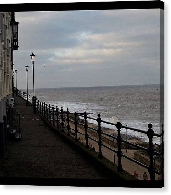 Beach Sunsets Canvas Print - Cromer by Jo Shaw