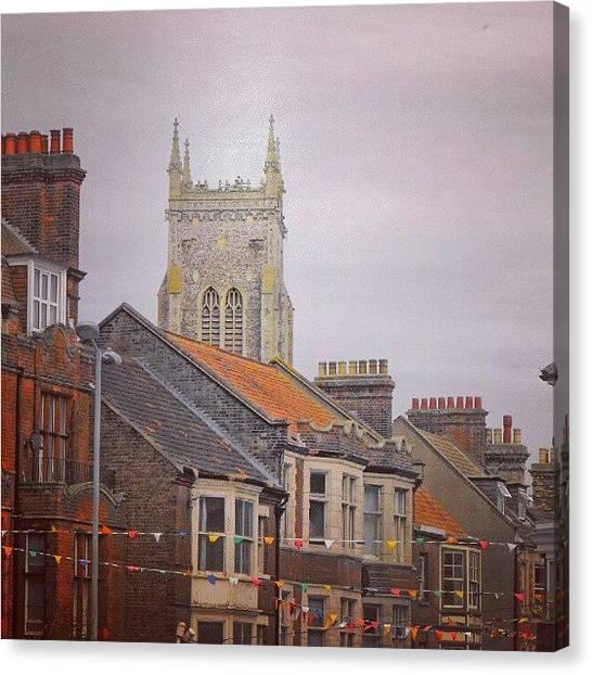 Norfolk Canvas Print - #cromer #latergram #buildings by Alexandra Cook
