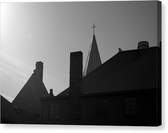 Cross Above All Canvas Print by Dale Stillman