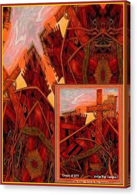 Cross Nine Eleven Tangle Of Terror Canvas Print