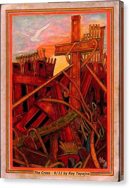 Cross Of Nine Eleven Tangle Of Terror  Canvas Print