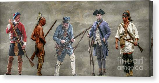 Crossed Paths French And Indian War Canvas Print