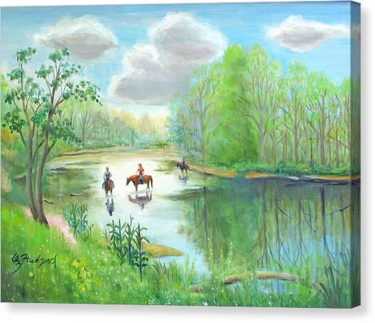 Crossing The Neshaminy Canvas Print